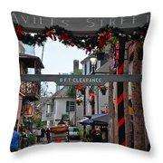 Christmas On Aviles Street Throw Pillow