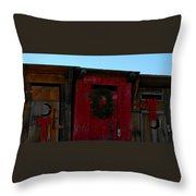 Christmas Out Houses For Sale Throw Pillow