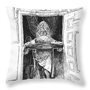 Christmas Pudding, 1882 Throw Pillow