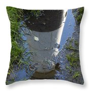 Christmas Range Light Reflection 1 Throw Pillow