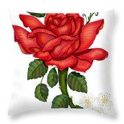 Christmas Rose 2011 Throw Pillow