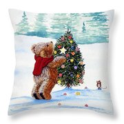 Christmas Star Throw Pillow by Gordon Lavender
