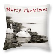 Christmas Swans 2367 Throw Pillow