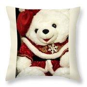 Christmas Teddy Bear Throw Pillow