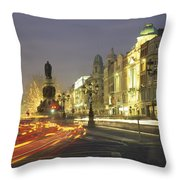 Christmas Traffic On Oconnell Street Throw Pillow