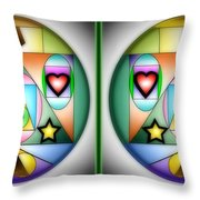 Christmas Tree - Gently Cross Your Eyes And Focus On The Middle Image Throw Pillow