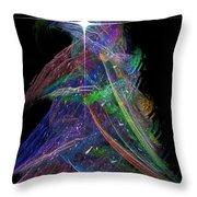 Christmas Tree 49b Star Throw Pillow