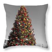 Christmas Tree At Pier 39 Throw Pillow