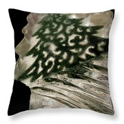 Christmas Tree Frozen In Time Throw Pillow
