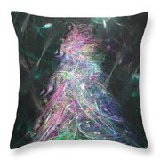 Christmas Tree Moon Throw Pillow