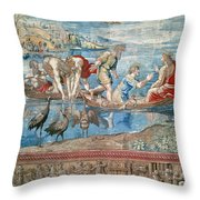 Christ:miraculous Draught Throw Pillow