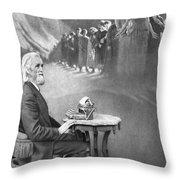 Christopher Sholes, American Inventor Throw Pillow