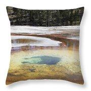 Chromatic Pool Hot Spring, Upper Geyser Throw Pillow