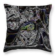 Chrome And Paint Throw Pillow
