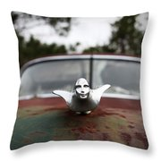 Chrome Angel Throw Pillow