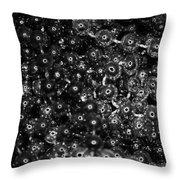 Chrome Beads Throw Pillow