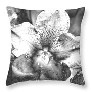 Chrome Flower Throw Pillow