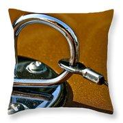 Chrome Lock Throw Pillow