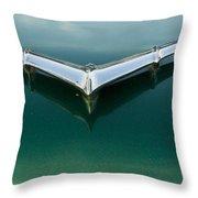 Chrome On Green Throw Pillow