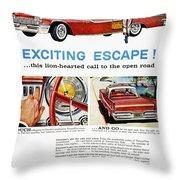 Chrysler Ad, 1959 Throw Pillow