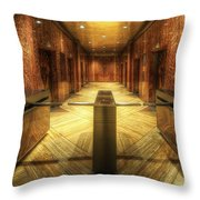 Chrysler Building Elevator Lobby Throw Pillow
