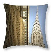 Chrysler Building Nyc - Streamlined Majesty Throw Pillow by Christine Till