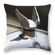 Chrysler Hood Ornament 2 Throw Pillow