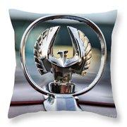 Chrysler Imperial Hood Ornament Throw Pillow