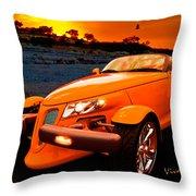 Chrysler Plymouth Prowler Rocky Sunset Throw Pillow