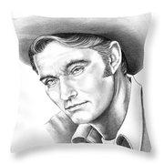 Chuck Conners-rifleman Throw Pillow