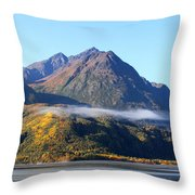 Chugach Mountains Throw Pillow