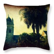 Church At Fort Moultrie Near Charleston Sc Throw Pillow