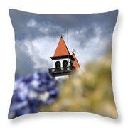 Church At Furnas Throw Pillow