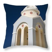 Church Bell Tower Throw Pillow