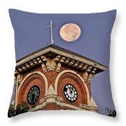 Church Bell Tower Throw Pillow