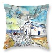 Church In Cape Gkreko In Cyprus Throw Pillow