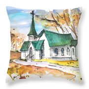 Church In Friars Point Mississippi Throw Pillow