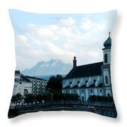 Church In Lucerne Throw Pillow