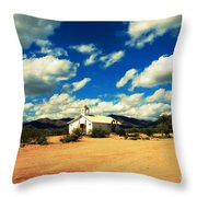 Church In Old Tuscon Arizona Throw Pillow