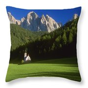 Church In The Countryside Throw Pillow