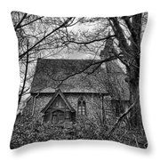Church In The Woods Throw Pillow by Dave Godden