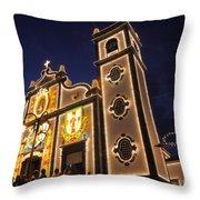 Church Lighting At Night Throw Pillow