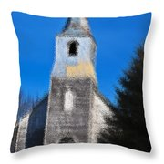 Church Of Days Gone By Throw Pillow