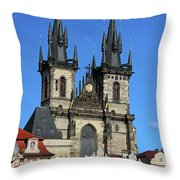 Church Of Our Lady Before Tyn Throw Pillow