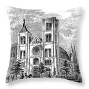 Church Of The Puritans Throw Pillow