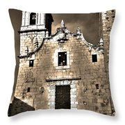 Church Of The Virgen De La Ermitana - Peniscola  Throw Pillow