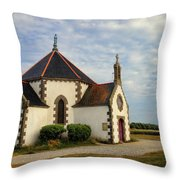 Church Off The Brittany Coast Throw Pillow