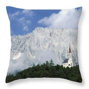 Church On Hilltop Throw Pillow