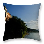 Church On The Lake Front Throw Pillow