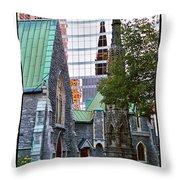 Church Reflections Throw Pillow